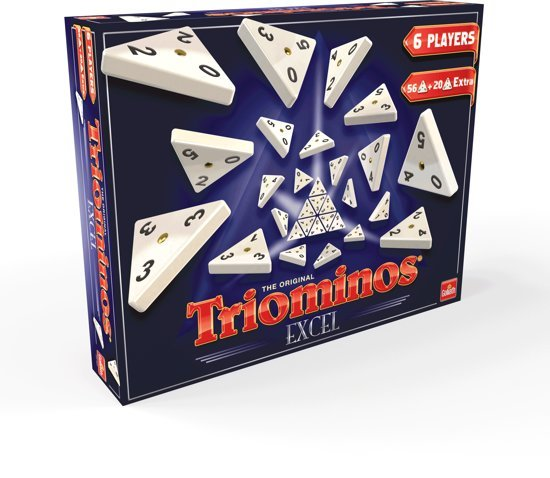 Triominos Excel Game 20 Extra Pieces Board Game