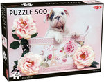 Puppy and Roses - Puzzel (500)