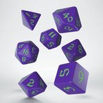 Classic Runic Dice Set Purple & Green (7 stuks)