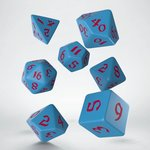 Classic Runic Dice Set Blue & Red (7 stuks)