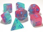 Dobbelstenen Gemini Gel Green-Pink/Blue Polydice (7 stuks)
