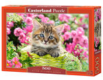 Kitten in Flower Garden - Puzzel (500)