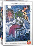 The Blue Violinist, Marc Chagall - Puzzel (1000)