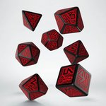 Dwarven RPG Dice Set Red & Black (7 stuks)