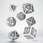 Steampunk Dice Set White & Black (7)