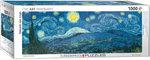Starry Night, Van Gogh - Panorama Puzzel (1000)