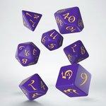 Dobbelstenen Classic RPG Dice Set Purple/Yellow (7 stuks)