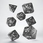 Dobbelstenen Classic RPG Dice Set Smoky/White (7 stuks)