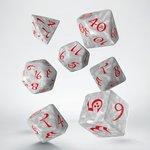 Dobbelstenen Classic RPG Dice Set Pearl/Red (7 stuks)