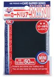 KMC Mini Sleeves: Black (62x89mm) - 50 stuks