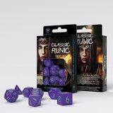 Classic Runic Dice Set Purple & Green (7 stuks)