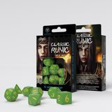 Classic Runic Dice Set Green & Yellow (7)