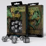 Celtic Dice Set Black & White (7)