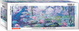 Water Lilies, Claude Monet - Panorama Puzzel (1000)