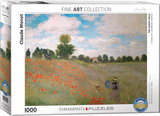 The Poppy Field, Claude Monet - Puzzel (1000)