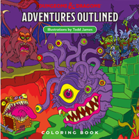 Dungeons & Dragons: Adventures Outlined (Coloring Book)