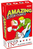 Colour-In Speelkaarten: Amazing Action Comics