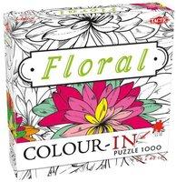 Colour-In Puzzel: Floral (1000)