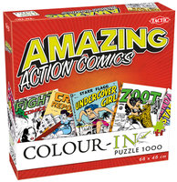 Colour-In Puzzel: Amazing Action Comics (1000)