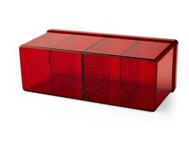 Dragon Shield Four Compartment Box (Ruby)