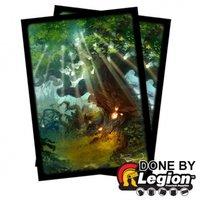 Blackfire Sleeves: Standard Double-Matte: Forest (66x91mm) - 50 stuks