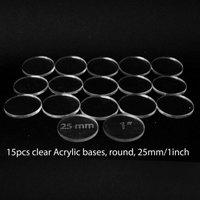 Acrylic Base: Round 25mm/1Inch (15 Pcs)