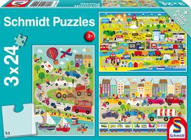 Bonte Wereld van Voertuigen - Puzzel (3x24)