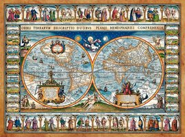Map of the world, 1639 - Puzzel (2000)