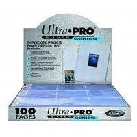 Ultra Pro 9-Pocket Page (Silver Series) - 100 stuks