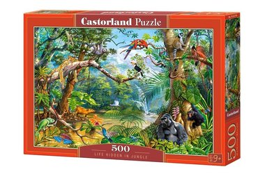 Life hidden in the Jungle - Puzzel (500)