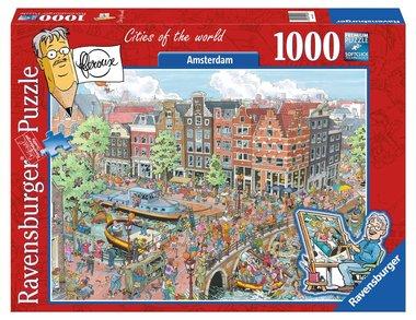 Fleroux: Amsterdam, Cities of the World - Puzzel (1000)