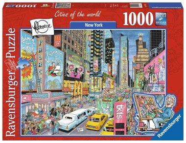 Fleroux: New York, Cities of the World - Puzzel (1000)