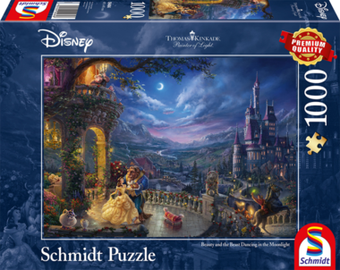 Beauty and the Beast Dancing in the Moonlight - Puzzel (1000)
