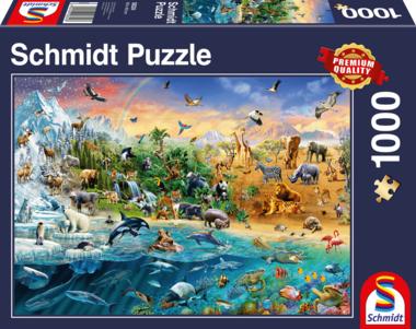 De Wereld van de Dieren - Puzzel (1000)