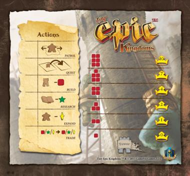 Tiny Epic Kingdoms: Action Mat