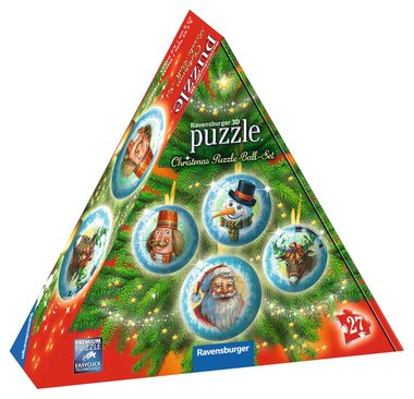 Christmas Puzzle Ball Set - 3D Puzzel (4x27)