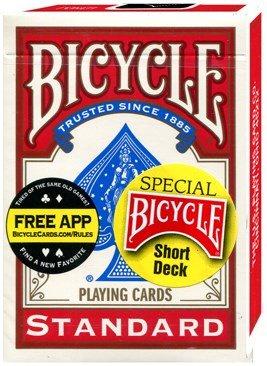 Speelkaarten Standard Short Deck Rood (Bicycle)