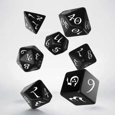 Dobbelstenen Classic RPG Dice Set Black/White (7 stuks)