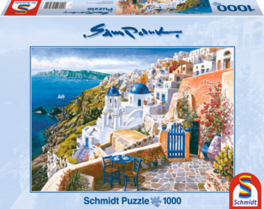 Blik op Santorini (Sam Park) - Puzzel (1000)
