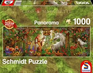 Sprookjeswereld (Ciro Marchetti) - Panorama Puzzel (1000)