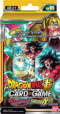 Dragon Ball SCG: The Crimson Saiyan - Starter Deck