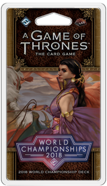 A Game of Thrones: The Card Game (Second Edition) - 2018 World Championship Deck