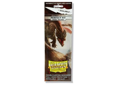 Dragon Shield Card Sleeves: Perfect Fit Sealable Inner Card Sleeves (63x88mm) - 100 stuks (Smoke)