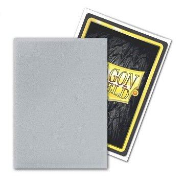 Dragon Shield Card Sleeves (Non-Glare): Standard Silver Matte (63x88mm) - 100 stuks