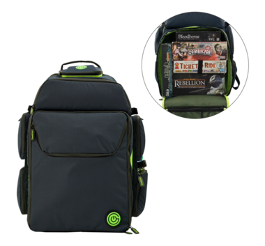 GeekOn! The Ultimate Boardgame Backpack (Blue/Green)
