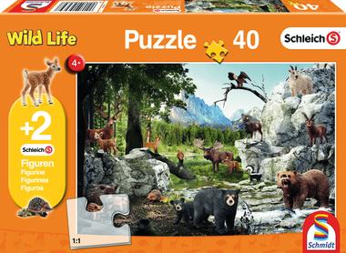 De dieren van het bos - Puzzel (40) [+ 2 GRATIS SCHLEICH FIGUREN]