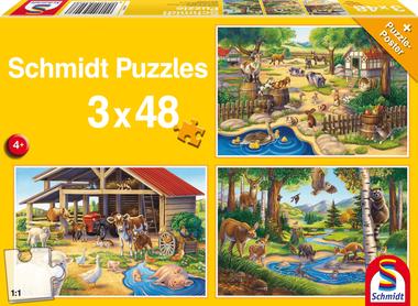 Al mijn lievelingsdieren - Puzzel (3x48)
