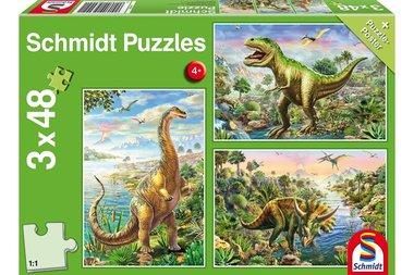 Avontuur met de dino's - Puzzel (3x48)