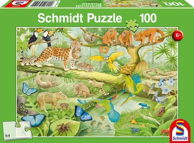 Dieren in het Regenwoud - Puzzel (100)