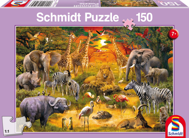 Dieren in Afrika - Puzzel (150)
